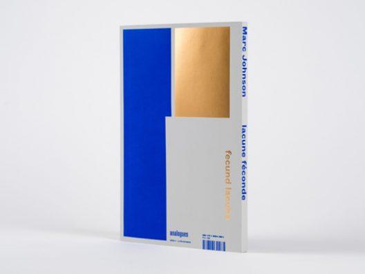 Marc Johnson lacune feconde art book back cover